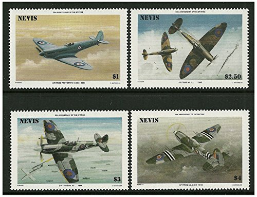 World War 2 fighter planes stamps issued in 1986 Nevis / Mint and unmounted ()