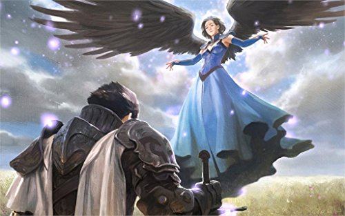 Dawn sky Angels Armor Wings Fantasy Girls angel wings knight warrior warriors sword swords 4' Size Home Decoration Canvas Poster (Where To Buy Angel Wings)