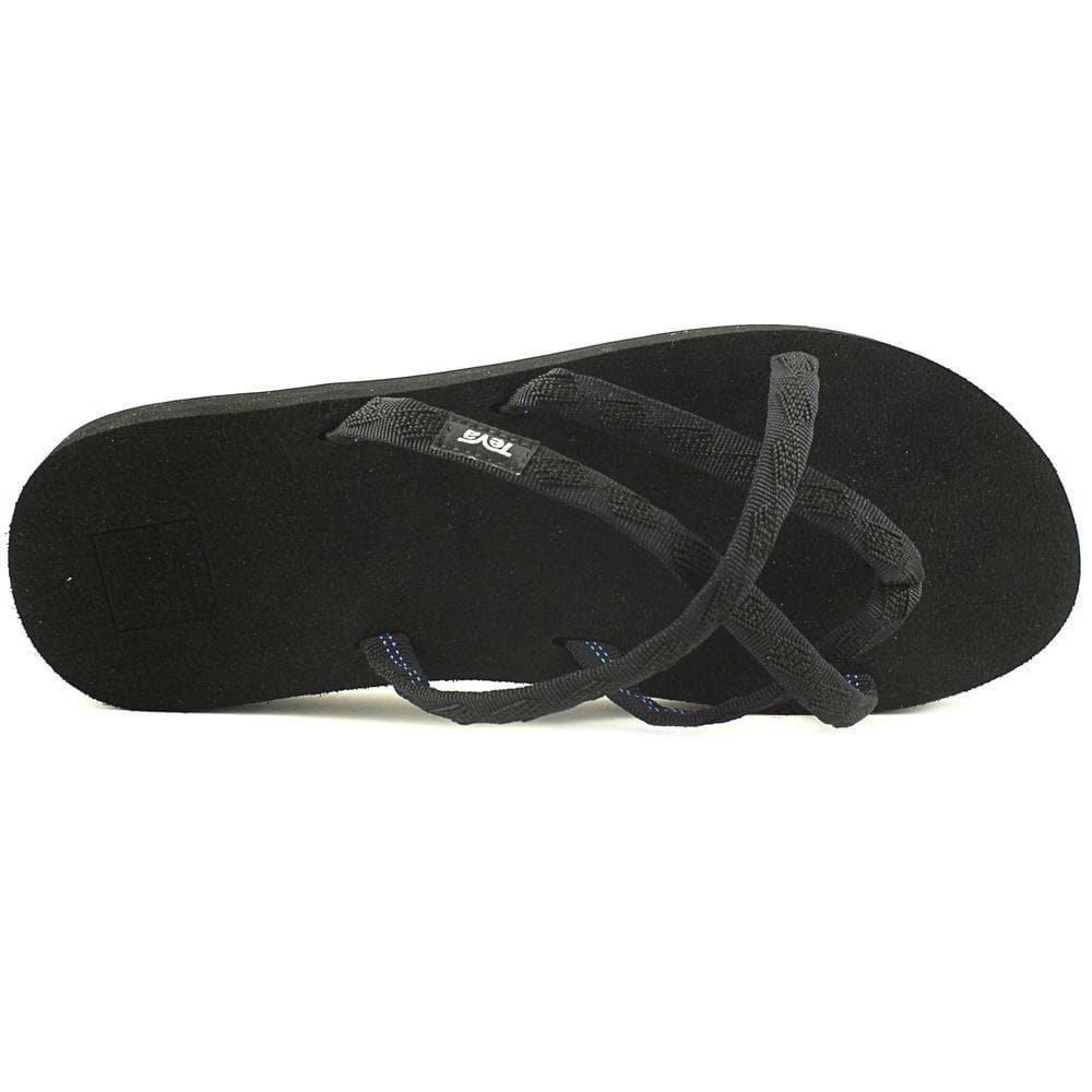 Teva Women's Olowahu Flip-Flop - 8 B(M) US - Mix Black on Black