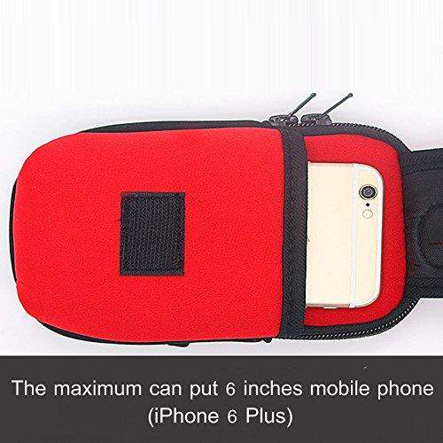 Kigurumi Armtasche Unisex Multifunktionsarmtasche für iPhone 6 / 6S mit Größe kleiner als 5,5 Zoll Orange