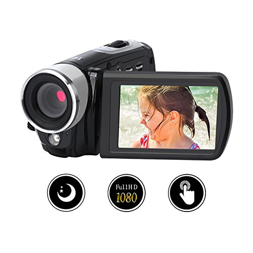 Camcorder Digital Camera Video Recorder Full HD 1080p Night Vision 24.0MP With 16x Digital Zoom 3 Inch 270° Rotation Touch Screen