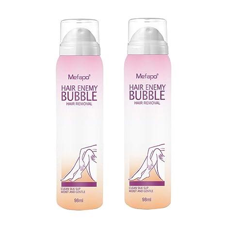 RISTHY Conjunto de 2 Crema Depilatoria Mujer,Crema Eliminación Permanent Espuma Mousse Depilatoria Spray Natural