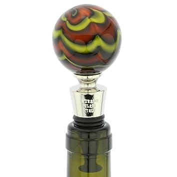 GlassOfVenice Cristal de murano del tapón de botella con diseño de pelota Marble Swirl
