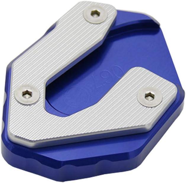 Blu KKmoon Cavalletto Laterale per Moto Cuscinetto Piastra Estensione Ingranditore Alluminio CNC Ricambio per Yamaha MT09 Tracer XSR900