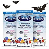 Pedialyte Electrolyte Powder, Variety Pack, Electrolyte Hydration Drink, 0.3 oz Powder Packs, 24 Count