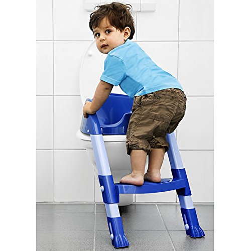 Kiddyloo Toilet Seat Reducer (Blue/ Light Blue) - Toddler Potty Training Seat