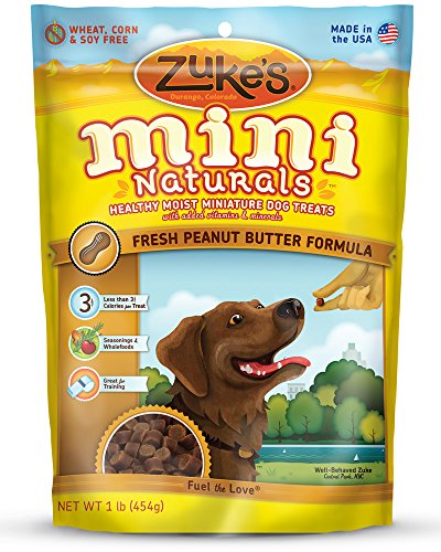 Zuke's Mini Naturals Dog Treats, Fresh Peanut Butter Recipe, 1-Pound (Dog Boutique Online)