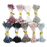 900pcs/lot 3mm mixed 9 colors Matte double heads flower stamen pistil (Mixed colors 5)