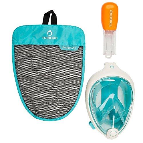 Easy la respiración de buceo máscara (XS) (S/M) (L/XL) - azul/blanco, color - türkis/weiß, tamaño large/extra-large: Amazon.es: Deportes y aire libre