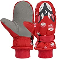 Kids Easy-On Wrap Waterproof Thinsulate Warm Winter Snow Ski Mitten