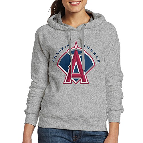 DVPHQ Women's Funny Angels Baseball Anaheim Sweater Size L Ash