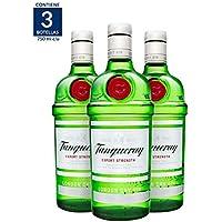 3X2 Ginebra Tanqueray London Dry - 750 ml (Paquete de 3 botellas)