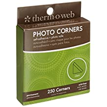 Thermoweb PC250-3870 Photo Corner Boxed, Clear, 250-Pack