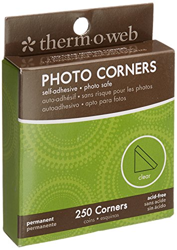 (Thermo Web PC250-3870 Photo Corner Boxed, Clear, 250-Pack)