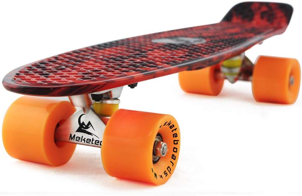 Skateboards Complete Mini Cruiser Retro Skateboard for Kid Boys Youths Beginners