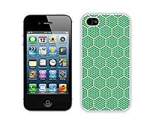 Slim Apple Iphone 4s Case Durable Soft Silicone TPU Green Honeycomb Diy White Phone Cover Mobile Accessories for Iphone 4