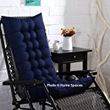 Home Spaces Soft & Relaxing Home Seat Cushion Long Chair Pad Cushion for Rocking Chairs & Indoor/Outdoor Home Office Garden Decor (Pack of 1) (48 x 16 Inches, Navy Blue)