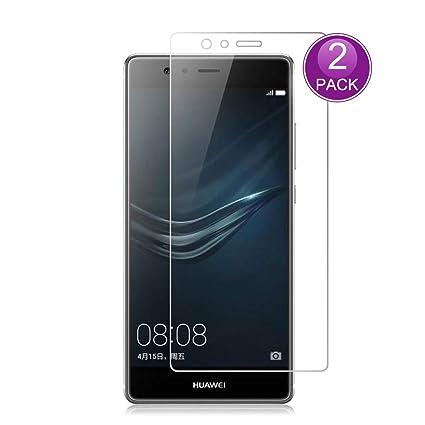 E-Hamii [2-Pack] Protector de Pantalla para Huawei P9 Plus, 9H Vidrio Templado Protectora, HD Proteger Película Anti-Scratch y Anti-Huella Digital (Nota: no Cobertura Completa): Amazon.es: Electrónica