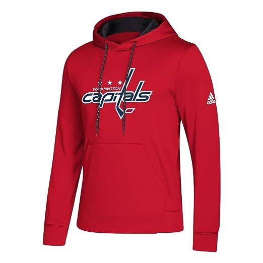 adidas Washington Capitals NHL Men s Goalie Pullover Hooded Sweatshirt 20c158b91