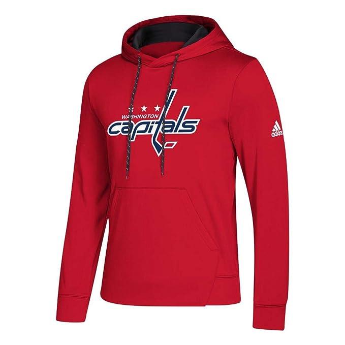 buy popular 7023f bd450 adidas Washington Capitals Red 2018-19 Synthetic Hooded Sweatshirt Hoody