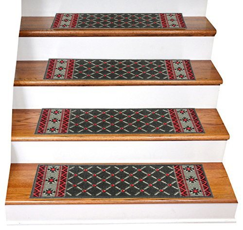 3 · Gloria Rug   Stair Treads   Beautifully Designed Outdoor Skid Resistant Stair  Treads Non Slip Set