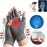 Xanam Solid Arthritis Pressure Health Half Finger Glove & Wrist Brace