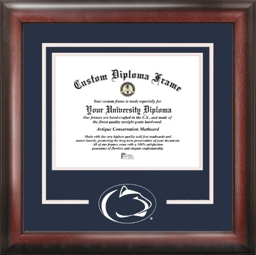 Campus Images NCAA Penn State Nittany Lions Spirit Diploma Frame, 8.5 x 11, Mahogany