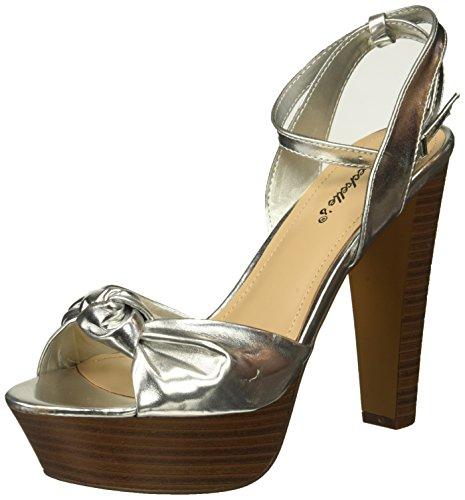 Top Moda Table-1 Women's peep toe platform chunky heel closed back buckle T-strap nubuck pumps , mve shoes betsey-56 black size 8.5