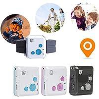 JOHLYE Rastreador de GPS, RF-V16 GSM GPRS Rastreador de GPS Localizador de 2 vías de audio Geo-Fence SOS Communicator SOS Alarm Rastreo en tiempo real para niños Niños Anciano Personal
