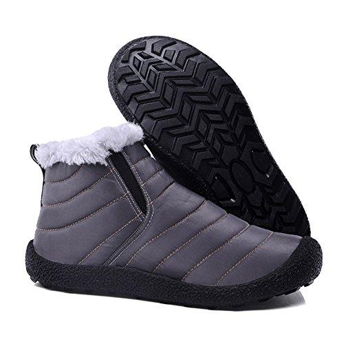 Scarponi Da Neve Piatti Impermeabili Da Donna Cooga Più Scarpe Da Sneaker Con Plateau In Cotone E Pizzo Invernale