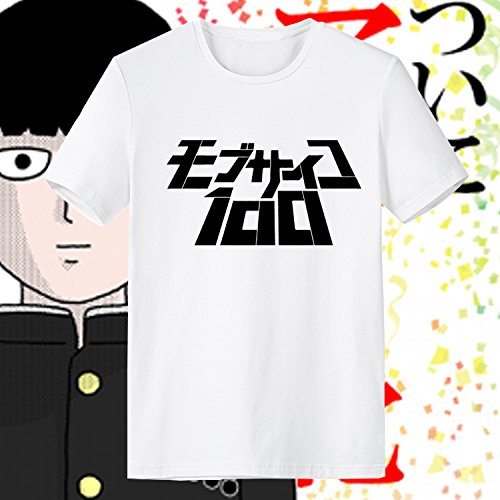 Generic Mob Psycho 100 Mob Short Sleeve High Quality O-Neck T Shirt for Men (White, XXL)