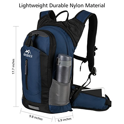RUPUMPACK Insulated Hydration Backpack Pack with 2.5L BPA Free Bladder, Lightweight Daypack Water Backpack for Hiking Running Cycling Camping, School Commuter, 18L