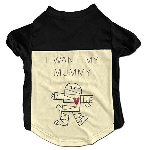 I Want My Mummy Cute Mummy Halloween Pet Dog Clothes Coats