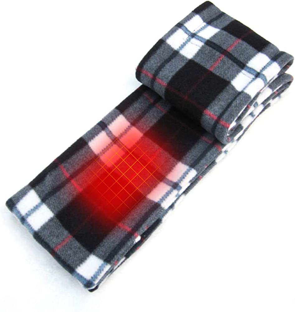 Heated Scarf with Neck Heat Pad Electric Battery Operated Heated Neck Wrap Cold Weather Neck Warmer Fleece Scarf with Pockets to Keep Hands Warm Heated Scarves for Women Heated Clothing for Men