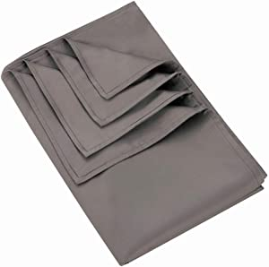 MANLINAR 60x80 Weighted Blanket Cover, Weighted Blanket Duvet Cover with 8Ties, Luxury 100% Silk Cotton, Grey.