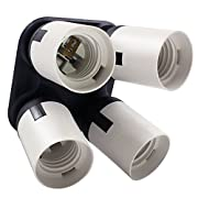 Amazon Lightning Deal 53% claimed: 4 in 1 E26/E27 Light Socket Splitter - Bulb Socket Adapter Converter for Photography, Studio, Home Lighting