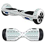 MightySkins Protective Vinyl Skin Decal for Self Balancing Scooter Board mini hover 2 wheel x1 razor wrap cover sticker Turquoise Tribal