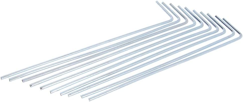 Landscape Pak of 10 Soil Patio Gardening SM SunniMix Heavy Duty Iron Camping Tent Pegs Canopies Galvanized Tent Stakes for Outdoor Camping