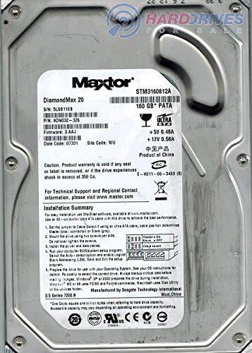 9DN032326 MAXTOR 9DN032-326 DIAMONDMAX 20 160GB ATA//100 HDD IDE 7200RPM 8MB CACHE