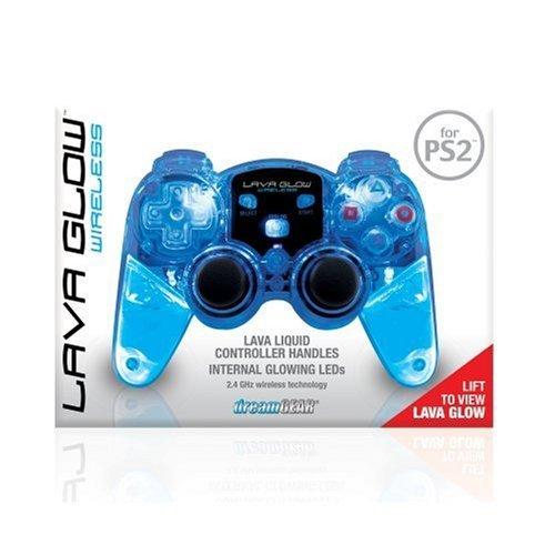 Lava Controller - DREAMGEAR DGPN-524 PlayStation2 Lava Glow Wireless Controller (Blue) by dreamGEAR