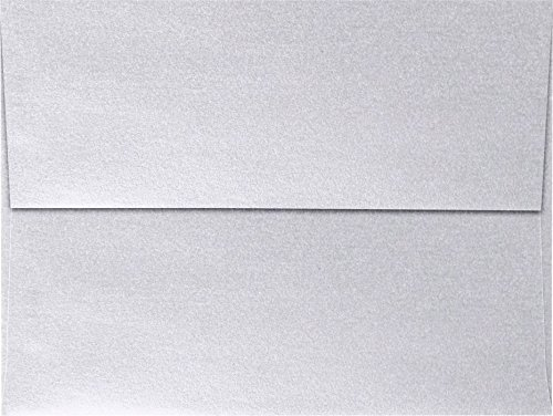 (A6 Invitation Envelopes (4 3/4 x 6 1/2) - Silver Metallic (50 Qty)   Perfect for Invitations, Announcements, Sending Cards, 4x6 Photos  )