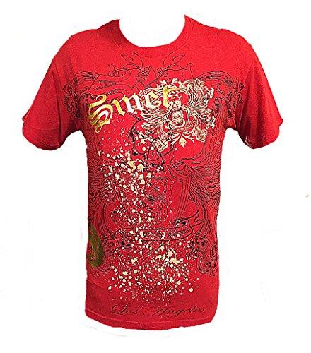 (Smet by Christian Audigier Born on the Street Skull Mens T shirt (Large,)
