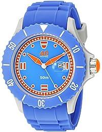 Men's Quartz Plastic and Silicone Casual Watch, Color:Blue (Model: 40NINE01/PERI30)