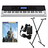 Casio CTK4400 61-Key Touch Sensitive Personal Keyboard Deluxe Package with Casio Keyboard Adapter, Keyboard Stand & Disney Classics Easy Piano Play Along Book