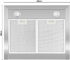 Klarstein Zarah - Campana extractora, Extractor, Extractor de pared, Aspiración/Ventilación, 3 Niveles, Potencia 620 m³/h, Acero inoxidable, Luz halógena, Montaje en pared, 60 cm, Plateado: Amazon.es: Grandes electrodomésticos
