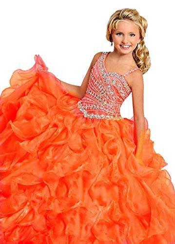 orange pageant dresses - 7