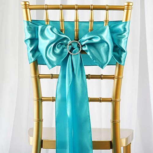 Mikash Satin Chair Sashes Bows Ties Wedding Reception