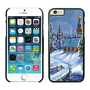 The Christmas Tree On Christmas Day Lovely Mobile Phone Protection Shell for iphone 6 Case-Unique Soft Edge Case(2015),Christmas Snow Scen iPhone 6 Case Black