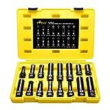Topec 16 SAE Metric Piece Locking Lug Master Key Set, Wheel Lock Removal Kit for The Purpose of Easily Removing Locking Lug Nuts on Aftermarket Wheels