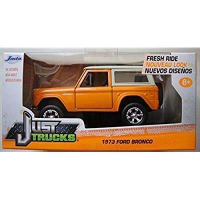 JADA JUST TRUCKS ORANGE/TAN 1973 FORD BRONCO 1:32 SCALE: Toys & Games